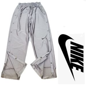 Vintage NIKE Silver Tearaway Athletic Pants